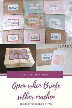Open when Briefe selber machen - 22 kreative Themen und Ideen - Mi Bog De Regalos De Bricolaje 2019 Creative Gifts For Girlfriend, Presents For Boyfriend, Boyfriend Gifts, Open When Letters, Diy Gifts For Men, Diy Presents, 1st Birthdays, Birthday Presents, Funny Gifts