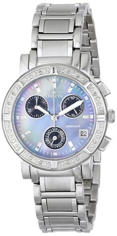 Invicta Women's 0610 Wildflower Collection Diamond Chronograph Watch -- $109.99
