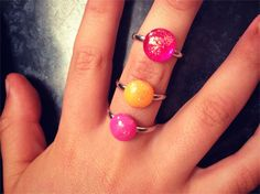 Loving this #kids Jelly Tot Bling Hot Pink Sparkle Ring   matillie   madeit.com.au