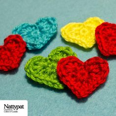 Mini Hearts by Natalie Gagnon | Crocheting Pattern - Looking for your next project? You're going to love Mini Hearts by designer Natalie Gagnon. - via @Craftsy