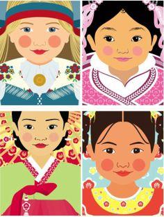 Chilean-Girl-Matryoshka-dolls-illustrations.jpg (500×663)