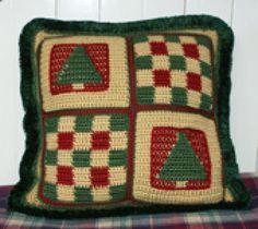 Even More Free Crochet Christmas Patterns: Crochet Christmas Pillow