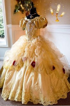Belle... A Luxurious Beauty And The Beast Inspired Ball Gown.
