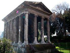Temple of Portunus in the Forum Boarium of Rome.