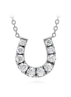 HOF Diamond Horseshoe Necklace from Charles Fine Jewelry.