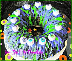 Eye of Newt Halloween Bundt Cake Recipe