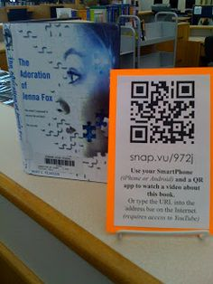 The True Adventures of a High School Librarian: QR Codes in the High School Library School Library Lessons, School Library Displays, Middle School Libraries, Elementary Library, School Resources, Library Inspiration, Library Ideas, Library Activities, Library Science