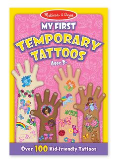 Amazon.com: Melissa & Doug My First Temporary Tattoos, Pink: Unbound: Toys & Games