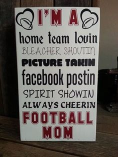 May have to try making one of these for the house.  Need to add hockey & baseball to the list though!    & from what I hear maybe rugby & BASKETBALL!!! Whooohooo!