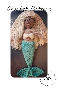 Crochet PATTERN | Crochet Mermaid Tail Outfit Pattern | Goddess Mermaid Outfit crochet pattern for Goddess Doll | Easy Crochet Pattern | PDF - pinned by pin4etsy.com