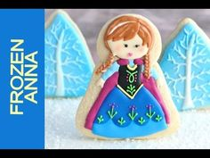 HOW TO MAKE FROZEN ANNA COOKIES, DECORATING WITH ROYAL ICING