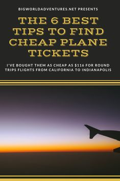 Come learn how to get super cheap flights! I flew from San Diego to Indiana for $116 round trip!  Big World Adventures is here to help you have amazing adventures and travel on a budget. Travel Guides, Travel Tips, Cheap Plane Tickets, Cheap Flights, Round Trip, Amazing Adventures, Indiana, San Diego, Budgeting