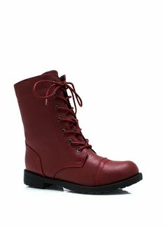 Plain Janes Lace-Up Boots