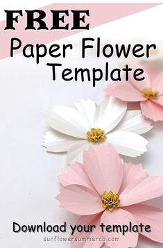 Paper Cosmos Paper Flower Tutorial – Paper Flower Backdrop Wedding Paper Cosmos Paper Flower Tutorial – Wedding with paper … Paper Flower Backdrop Wedding, Paper Flower Garlands, How To Make Paper Flowers, Large Paper Flowers, Tissue Paper Flowers, Wedding Paper, Flower Paper, Free Paper Flower Templates, 3d Templates