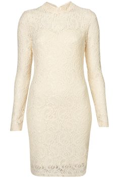 PAISLEY LACE HIGH NECK BODYCON DRESS