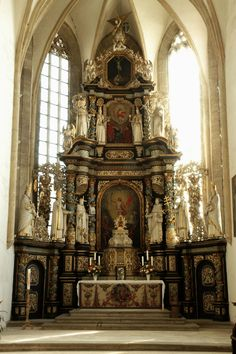 *HIGH ALTAR ~ of the Monastery Church of Saints Catherine and Barbara, Halberstadt, Sachsen-Anhalt, Germany