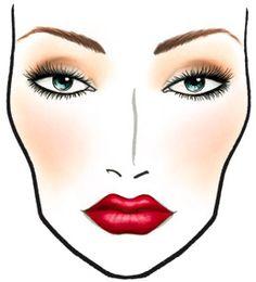 Face Chart – Bridal Makeup - Lippen Make-Up Mac Makeup Looks, Bridal Makeup Looks, Wedding Makeup, Red Lip Makeup, Eye Makeup, Mac Face Charts, Makeup Face Charts, Braut Make-up, Moisturizer For Dry Skin