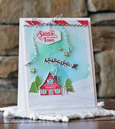 Santa Is Coming To Town Card by Amy Sheffer for Papertrey Ink (October 2015)