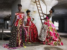 Vlisco's 'African' Textiles African Inspired Fashion, Africa Fashion, Ethnic Fashion, African Wear, African Women, African Dress, African Style, African Textiles, African Fabric