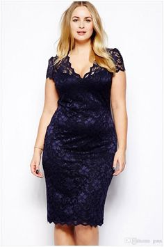 plus-size-fashion-women-midi-dress-v-neck.jpg (749×1128)