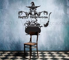 Witches brew Halloween wall decal Halloween wall by ValdonImages