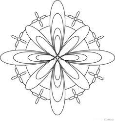 Free mandalas coloring > Flower Mandalas >