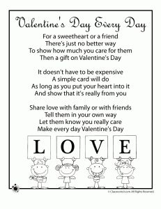 Valentine Kids Poems - Valentine's Day Every Day