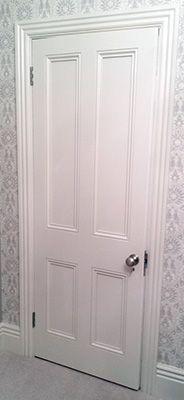 Victorian interior door with doorknob