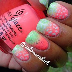 Green and Pink cheetah!!