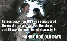 I liked Jaime from the start. He's one of the characters with the most depth. Going from complete jerk, to still being a jerk you start to care about.