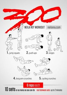 300 Workout. Thanks to Neila Rey Workout neilarey.com