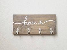 Key Hooks Housewarming Gift Key Rack Key Hanger Key holder for Wall Hooks for Wall Hooks for K Wooden Key Holder, Wall Key Holder, Diy Key Holder, Key Holders, Do It Yourself Organization, Entryway Organization, Key Rack, Key Organizer, Great Housewarming Gifts