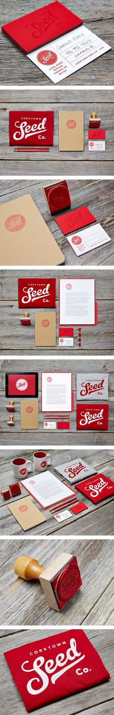 Layout ideas for identity packages Corktow Seed Company Identity Corporate Identity Design, Brand Identity Design, Graphic Design Branding, Stationery Design, Business Branding, Business Card Design, Packaging Design, Typography Design, Logo Design