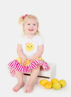 Girls Toddler Embroidered sister set Lemonade embroidered  tee and ruffle tie  skirt set 9 12 18 24 2T 3T 4T 5T 6 6x 7 8 10 12 by SSBSimplySewBoutique on Etsy