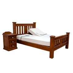 The Slievaduff Wooden Electric Adjustable Bed is a beautiful solid Dark Wood Bed which will complement any bedroom