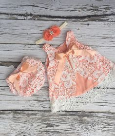 New color to the KLOSET! Our very popular lace swing set is now available in PEACH! Baby Dress Design, Baby Girl Dress Patterns, Baby Girl Party Dresses, Girls Dresses, Baby Girl Fashion, Kids Fashion, Baby Frocks Designs, Baby Princess, Baby Knitting