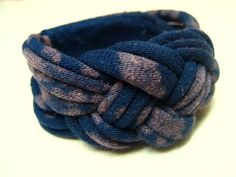 Recycled T-Shirt Knotted Bracelet Tutorial.