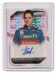 2016 PANINI PRIZM NASCAR CARDS DRIVER SIGNATURES WHITE PRIZM RUBEN GARCIA JR 3/5