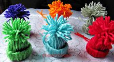 Set of 6 acrylic Winter Hat ornaments for the by HomeMadeWoman, $8.00