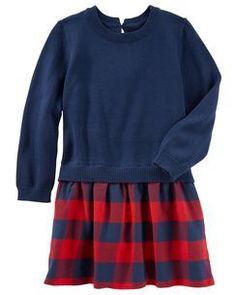 Plaid Flannel Sweater Dress
