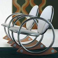 Aluminum Rocking Chair by Verner Panton