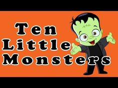 Halloween Songs for Children - Ten Little Monsters - Kids Song by The Learning Station