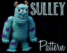 "James P. ""Sulley"" Sullivan (Monsters Inc) Amigurumi Crochet Pattern - $4.00 by Allison McDonough"