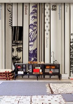 Trompe l'oeil wallpaper , design by Christian Benini (2014)