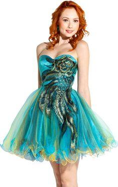 81fe22a1c07 metallic peacock plus size short prom dress 2013 Peacock Dress
