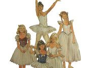 Girls American Ballet Costumes Tutu Basque Ruffles ABT Vintage 1980's McCall's 7991 Sewing Pattern Size 10 Uncut
