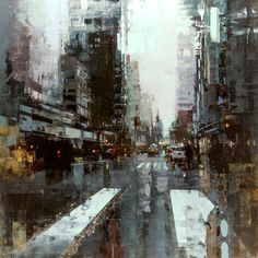 Supersonic Art: Jeremy Mann, Greg Gandy and Timothy P. Wilson at. Supersonic Art: Jeremy Mann, Greg Gandy and Timothy P. Wilson at. Urban Painting, City Painting, Dark Art Paintings, Landscape Paintings, Cityscape Art, Art Graphique, City Art, Urban Landscape, Art Plastique