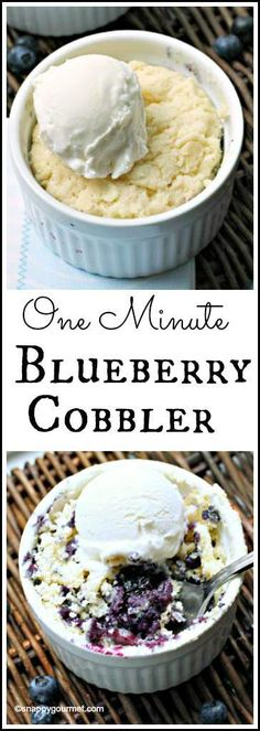 One Minute Blueberry