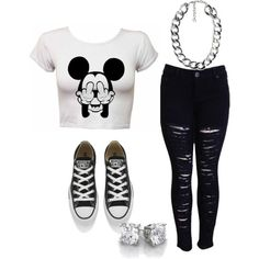 casual and cute oufit for teens.