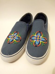 Native American beaded shoes